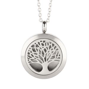 Picture of Tree Of Life Essential Oil Locket Silver